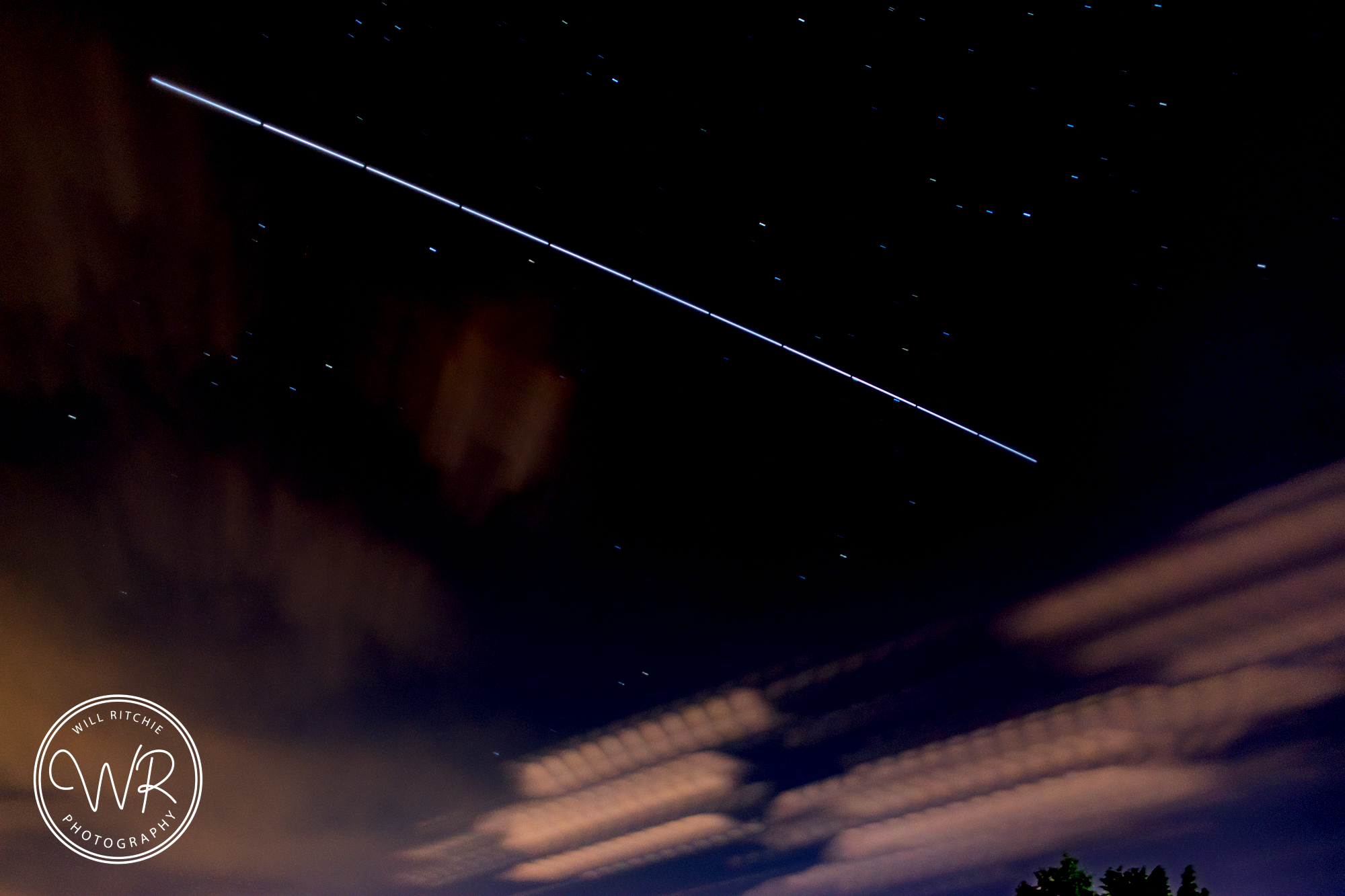 The ISS passing over Blackpool last night
