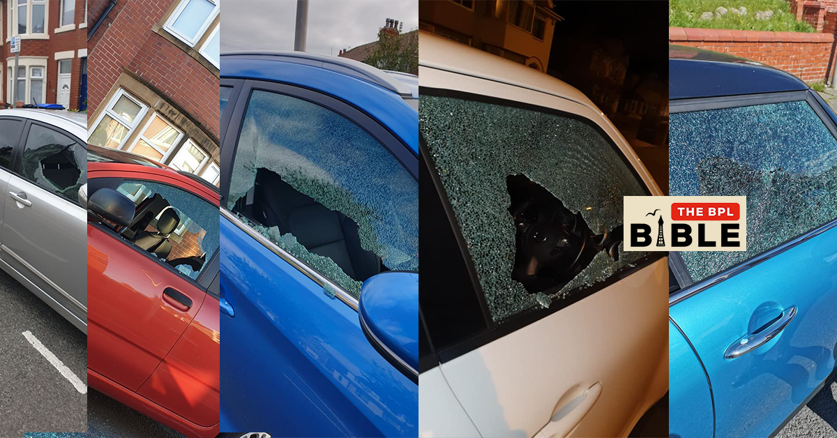 Multiple smashed car windows in one night.